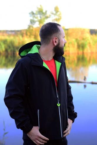 Куртка Softshell Jacket Black/Green